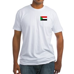 Sudanese Flag Fitted T-Shirt