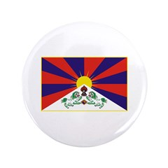 "Tibetan Flag 3.5"" Button"