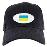 Ukranian Flag Black Cap