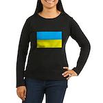Ukranian Flag Women's Long Sleeve Dark T-Shirt