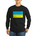 Ukranian Flag Long Sleeve Dark T-Shirt