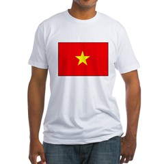 Vietnamese Flag Fitted T-Shirt