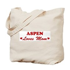 ASPEN loves mom Tote Bag