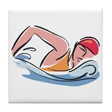 Swim Team Tile Coaster