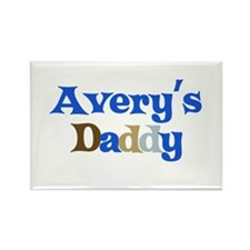 Avery's Daddy Rectangle Magnet