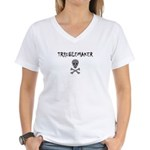 TROUBLEMAKER Women's V-Neck T-Shirt