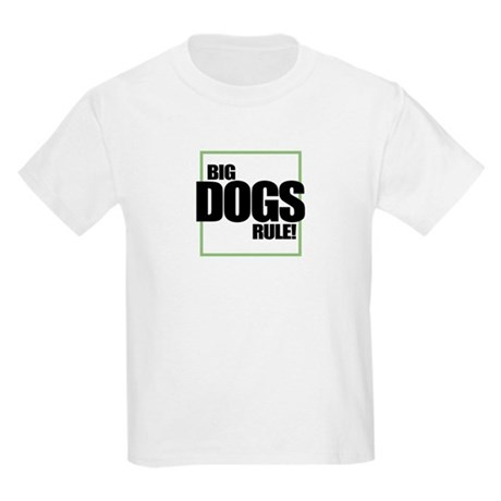 Big Dogs Rule logo Kids T-Shirt