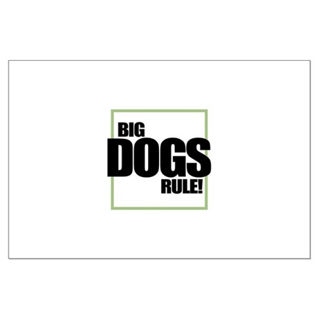 Big Dogs Rule logo Large Poster