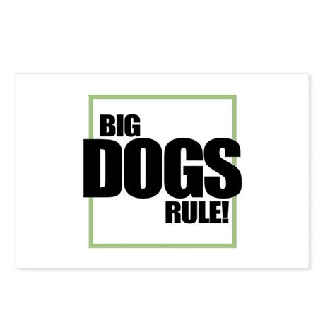 Big Dogs Rule logo Postcards (Package of 8)