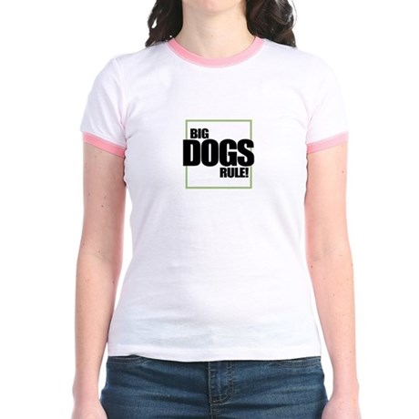 Big Dogs Rule logo Jr. Ringer T-Shirt