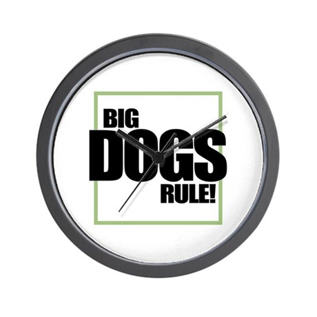 Big Dogs Rule logo Wall Clock