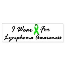 I Wear Lime Green For Lymphoma Awareness 1 Bumper Sticker