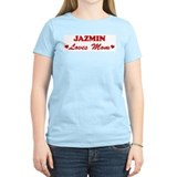 JAZMIN loves mom T-Shirt