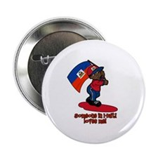 """Someone in Haiti loves me! 2.25"""" Button (100 pack)"""