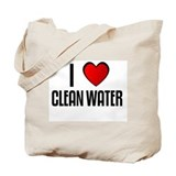I LOVE CLEAN WATER Tote Bag
