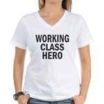 Working Class Hero Women's V-Neck T-Shirt