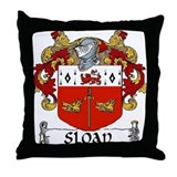 Sloan Coat of Arms Throw Pillow