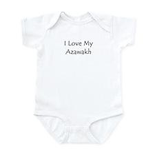 I Love My Azawakh Infant Bodysuit