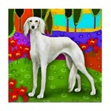 SALUKI DOG LAKE Tile Coaster