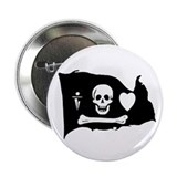 Stede Bonnet Jolly Roger Button