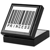 Princess Barcode Keepsake Box