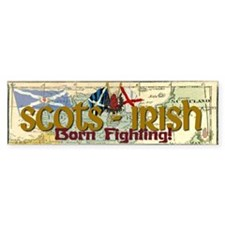 Scots-Irish Bumper Car Sticker