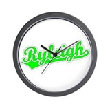 Retro Ryleigh (Green) Wall Clock