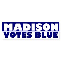 Madison Votes Blue bumper sticker