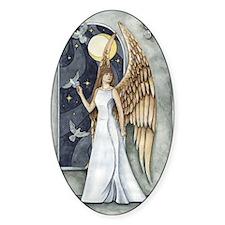 Dove Angel - Night Angel Oval Decal