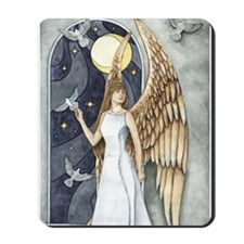 Dove Angel - Night Angel Mousepad