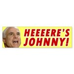 Heeeere's Johnny! Bumper Sticker