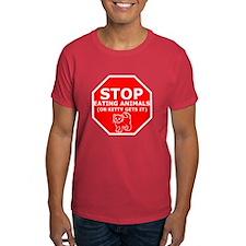 Stop eating animals sick humor T-Shirt