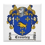 Crowley Family Crest Tile Coaster