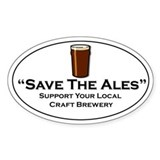 Save the Ales Oval  Aufkleber