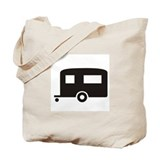 Trailer Camping Silhoutte Tote Bag