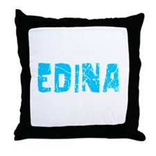 Edina Faded (Blue) Throw Pillow