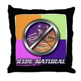Ride Natural Throw Pillow