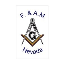 Nevada Square and Compass Rectangle Decal