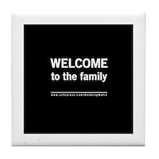 The Knitting Mafia: Family Tile Coaster