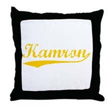 Vintage Kamron (Orange) Throw Pillow
