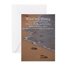 Footprints - Washed Away Greeting Cards (Pk of 10)