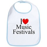 """I Love (Heart) Music Festivals "" Bib"