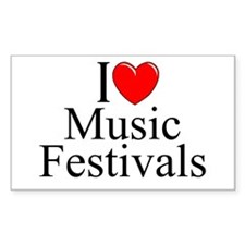 """I Love (Heart) Music Festivals "" Decal"