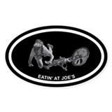 Eatin' at Joe's Mountain Biking Oval Decal