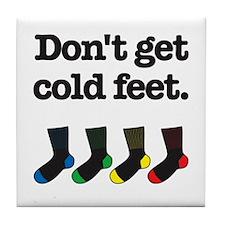 The Knitting Mafia: Cold Feet Tile Coaster