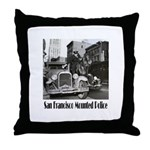 SFPD Mounted Police Throw Pillow