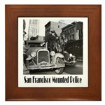 SFPD Mounted Police Framed Tile