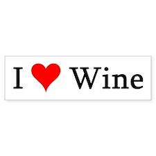 I Love Wine Bumper Bumper Sticker