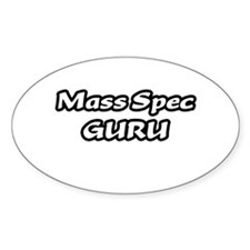 """Mass Spec GURU"" Oval Bumper Stickers"