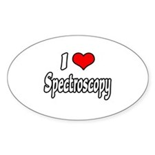 """I Love Spectroscopy"" Oval Decal"